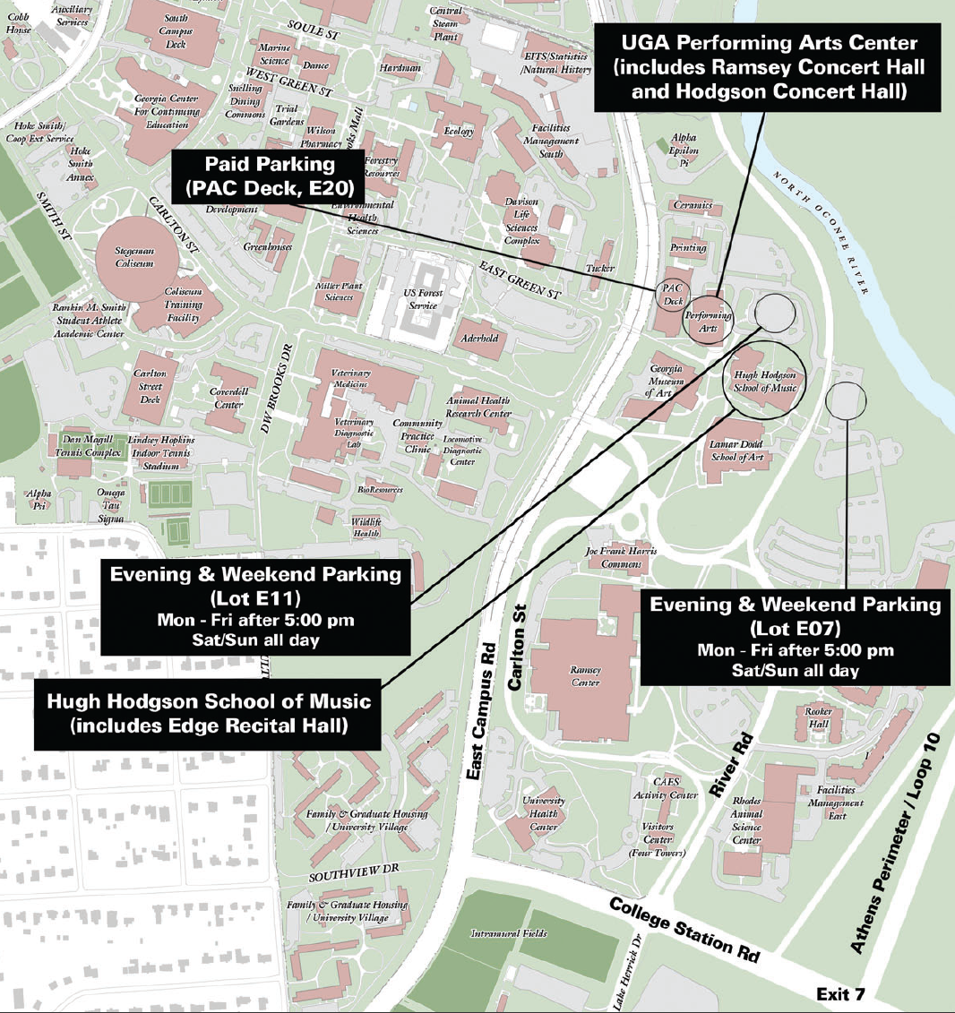 Map | Hugh Hodgson School of Music